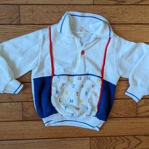 Vintage Toddler Alphabet Shirt